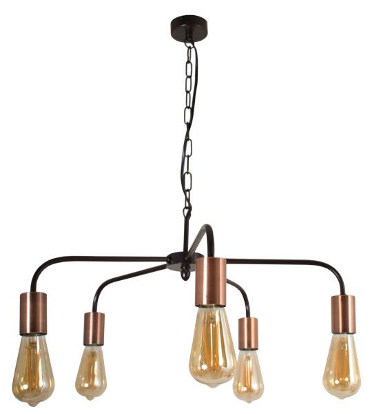 Фото - Подвесной светильник Дубравия Светильник подвесной Граф 5xE27x60Вт коричневый, медный 246-1915-25C, E27, 60 Вт подвесной светильник дубравия лори 181 41 23