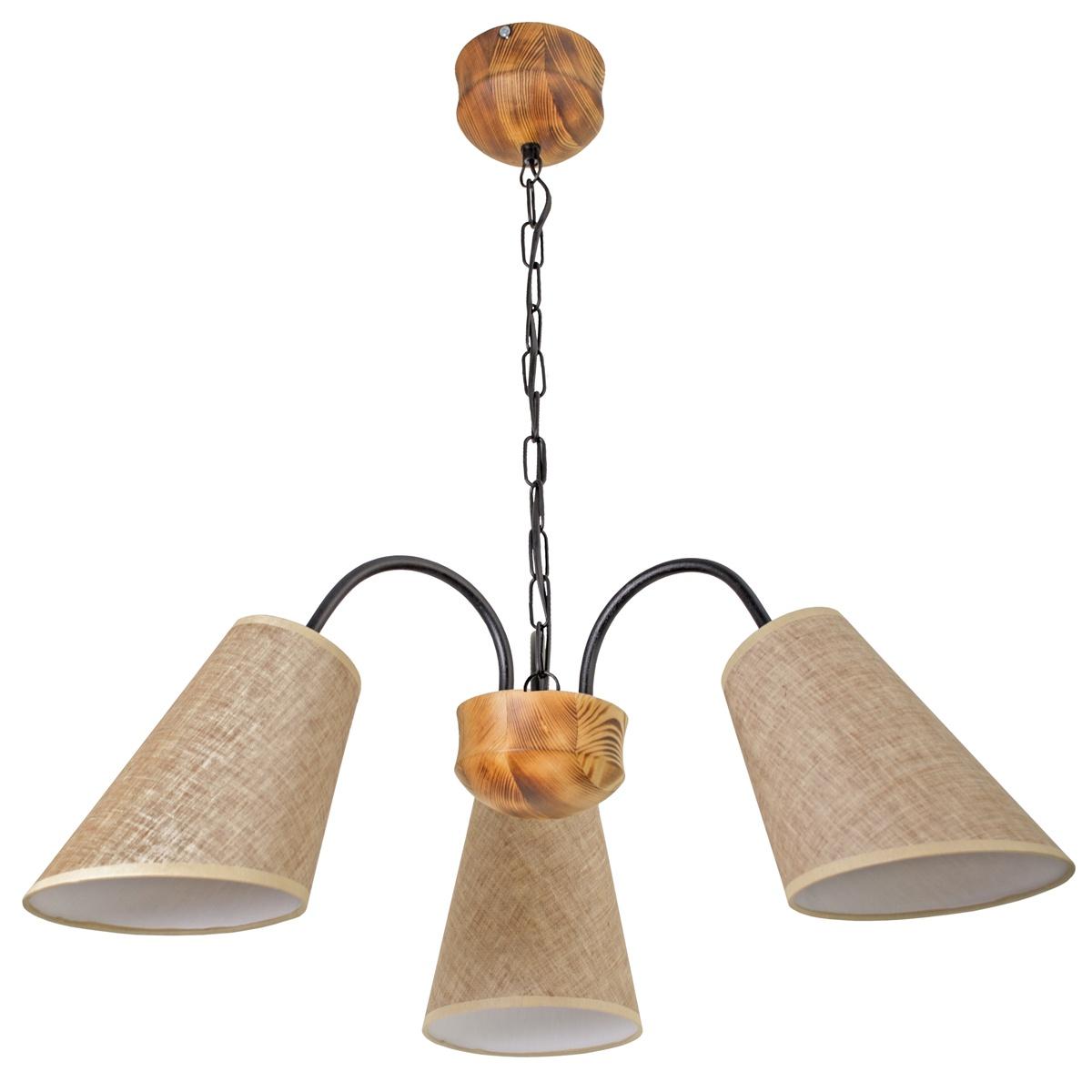 Фото - Подвесной светильник Дубравия Подвес Бьорн 3хЕ27х60Вт, обожженное дерево, 224-184-23, E27, 60 Вт подвесной светильник дубравия лори 181 41 23