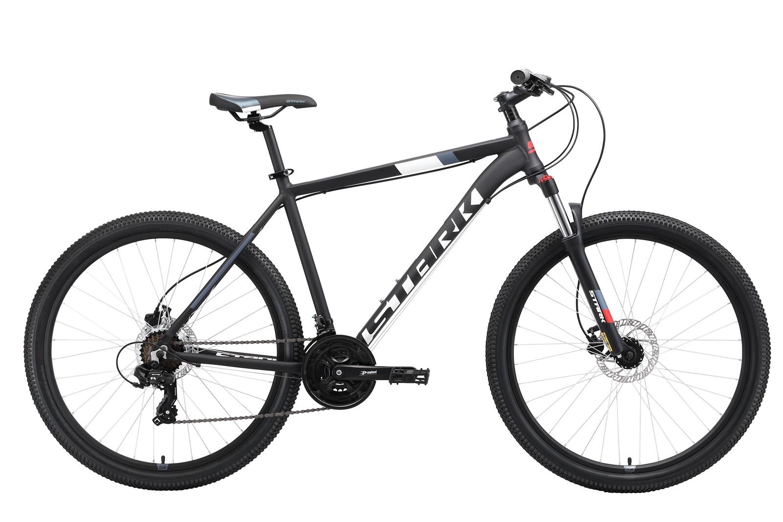 Велосипед Hunter 27.2 HD 18 2019, черный, красный, серый, белый
