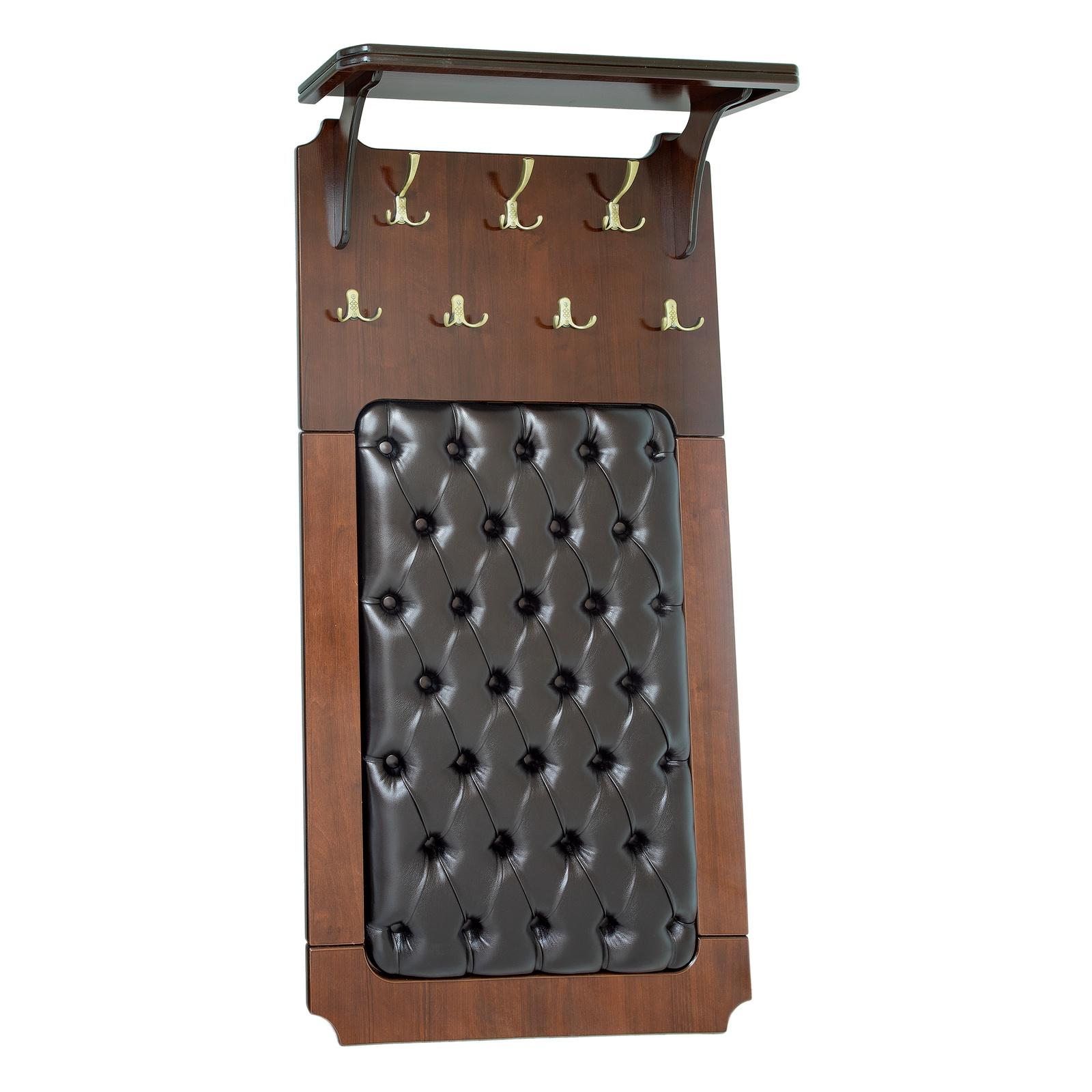 Вешалка настенная Висан Патриция, коричневый цены онлайн