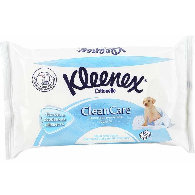Туалетная бумага KLEENEX влажная, шт салфетки влажные kleenex антибактриальные 40 шт влажная гипоаллергенные 9440102