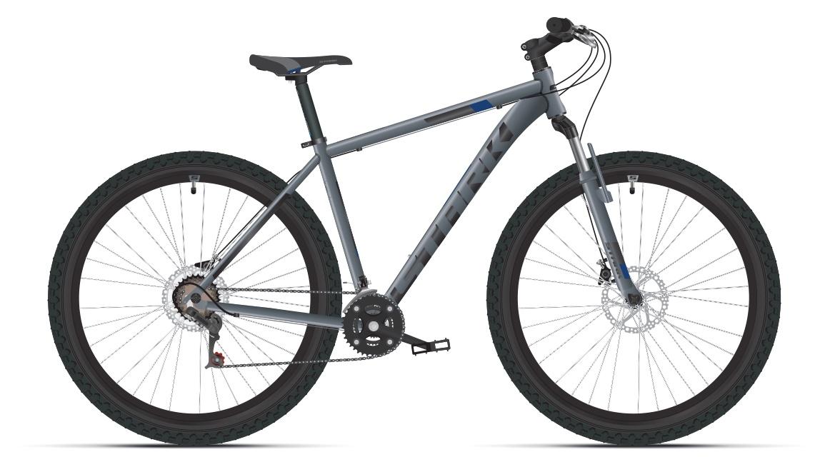 Велосипед Hunter 29 HD 22 2019, черный, серый, синий