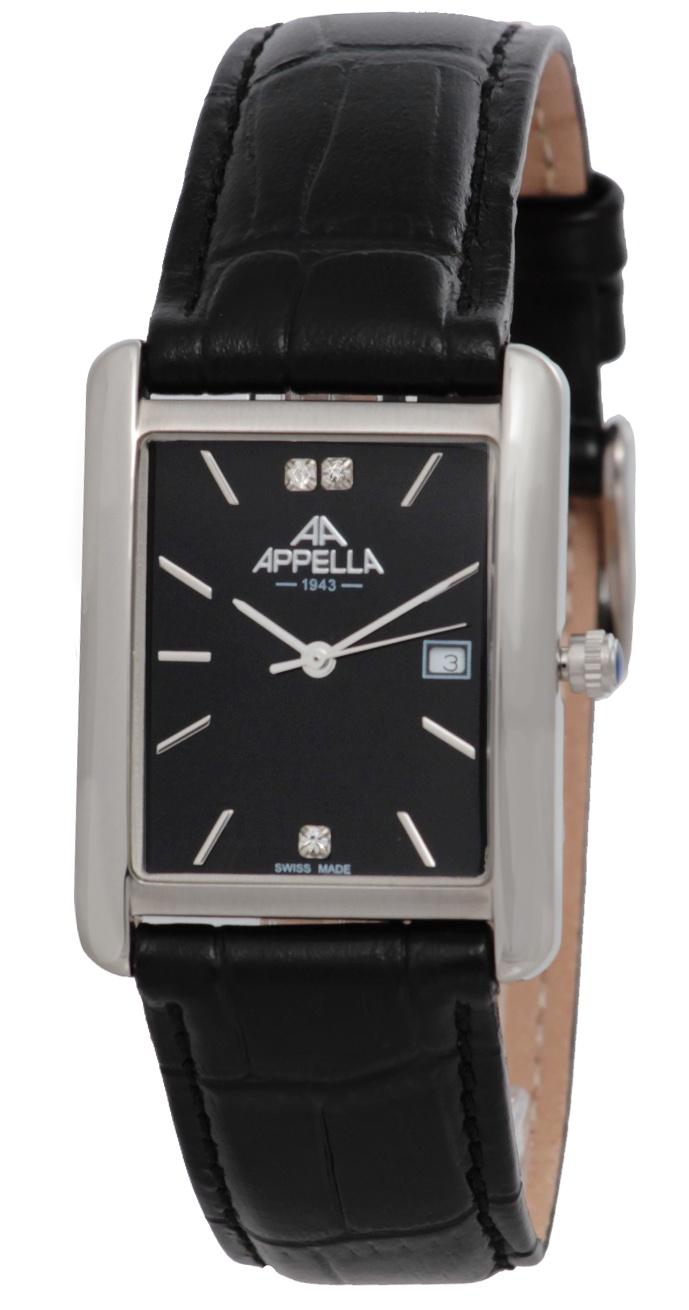 Часы Appella AP-4351-3014, черный appella часы appella 4382 43 1 0 04 коллекция ceramic