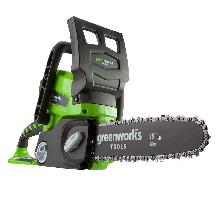 цена на Цепная электропила Greenworks G24CS25 24V без АКБ и ЗУ
