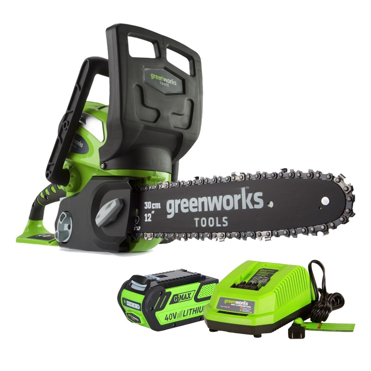 Цепная электропила Greenworks G40CS30 40V цепная электропила sturm 4603010030805