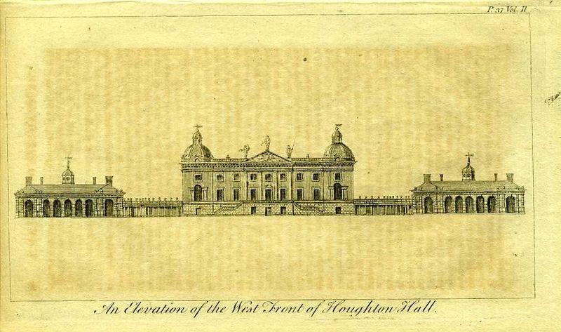 Гравюра Роберт Годби Англия. Хоутон-холл, резиденция премьер-министра Уолпола. Резцовая гравюра. Англия, Лондон, 1776 год англия гансбери хаус резиденция принцессы амелии резцовая гравюра англия лондон 1776 год
