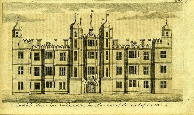 Гравюра Роберт Годби Англия. Берли-хаус в Нортгемптоншире, поместье графа Эксетер. Резцовая гравюра. Англия, Лондон, 1776 год англия гансбери хаус резиденция принцессы амелии резцовая гравюра англия лондон 1776 год