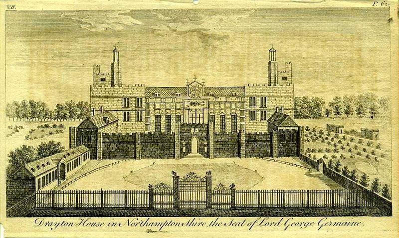Гравюра Роберт Годби Англия. Дрейтон-хаус, поместье лорда Джорджа Джермейна. Резцовая гравюра. Англия, Лондон, 1776 год англия гансбери хаус резиденция принцессы амелии резцовая гравюра англия лондон 1776 год