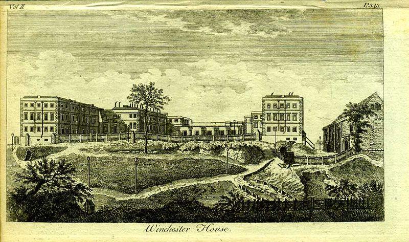 Гравюра Роберт Годби Англия. Винчестер-хаус, Англия. Резцовая гравюра. Англия, Лондон, 1776 год англия гансбери хаус резиденция принцессы амелии резцовая гравюра англия лондон 1776 год