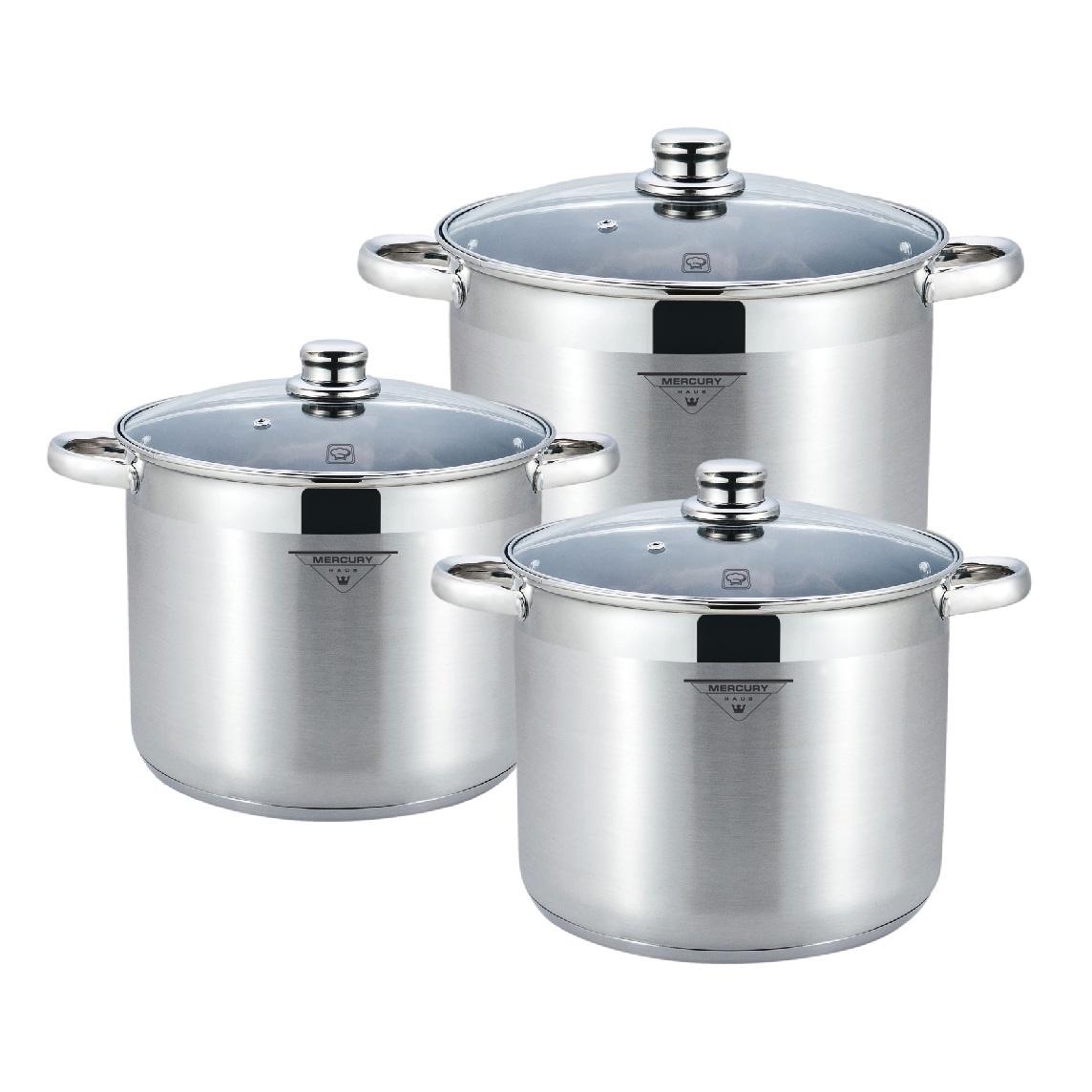 Набор посуды для приготовления Mercury Haus MC - 7036, серебристый