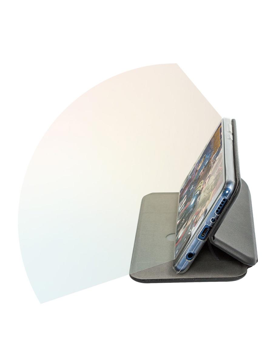 Чехол-книжка Onext для телефона Huawei P30 Lite (2019), черный (эко кожа) чехол для huawei p30 onext прозрачный