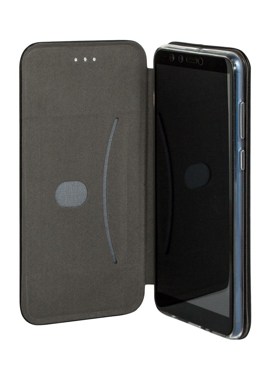 Чехолкнижка Onext для телефона Samsung Galaxy J6 Plus (2018) черный (экокожа)
