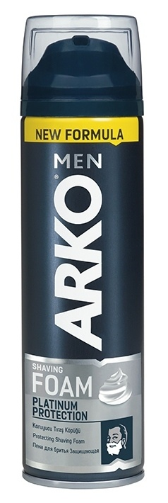 Пена для бритья Arko Men Platinum Protection защищающая, 200 мл