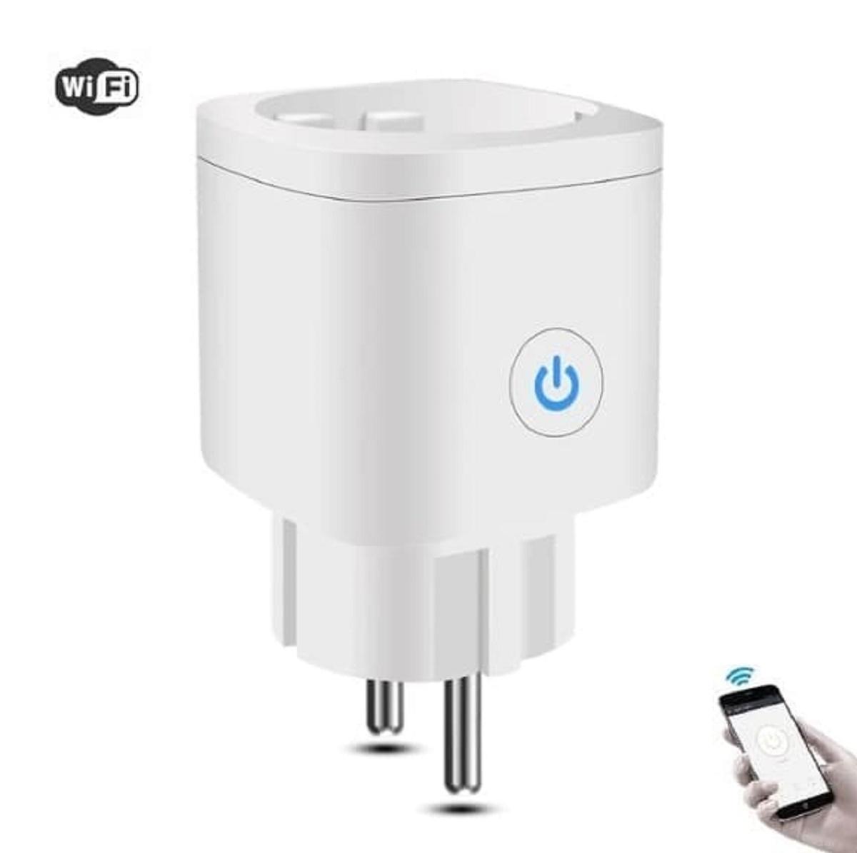 Модуль управления  Умная Wi-Fi розетка со счетчиком потребления 16A YA-SM200, белый