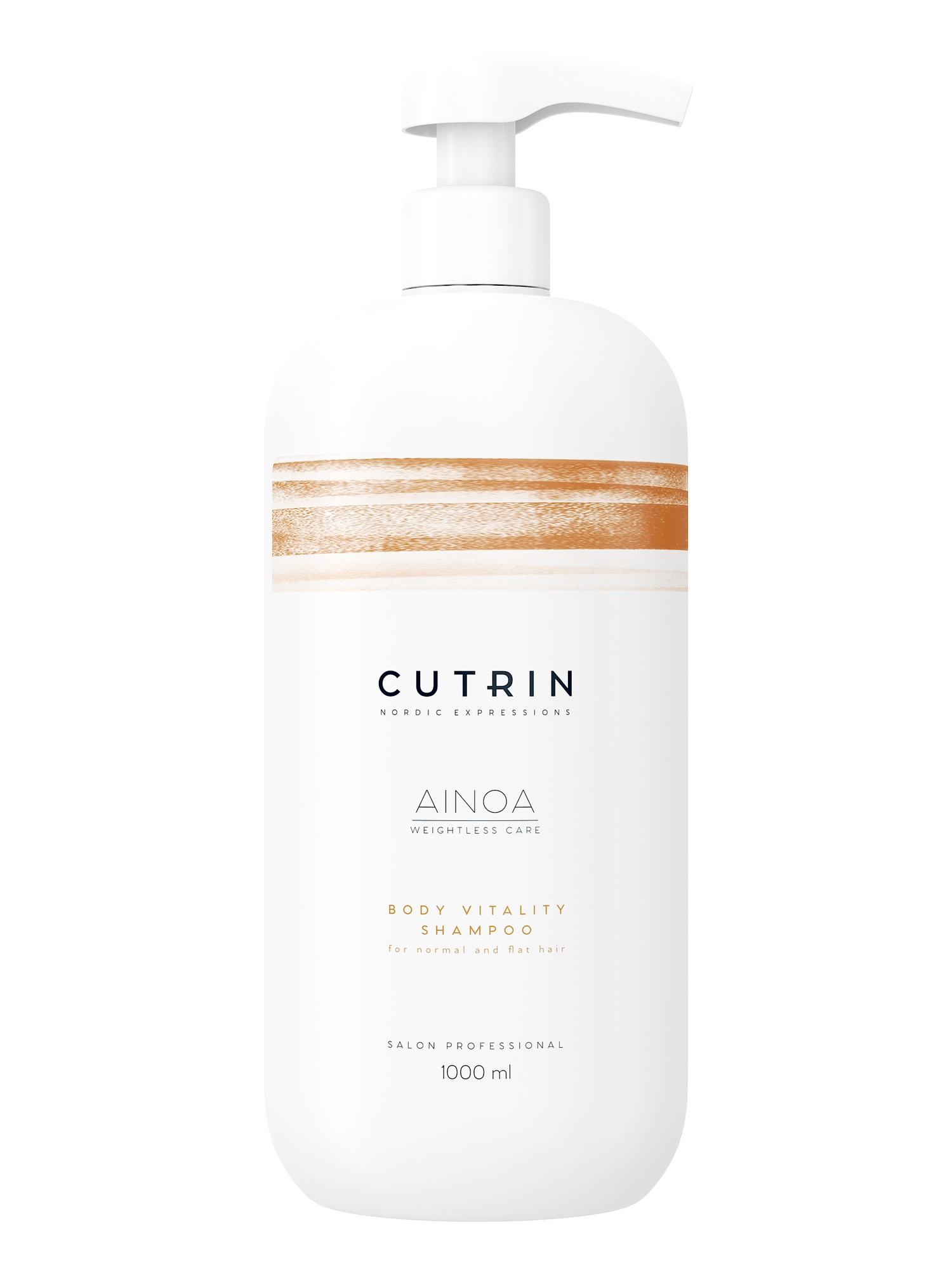 Шампунь для волос CUTRIN AINOA для укрепления body vitality 1000 мл