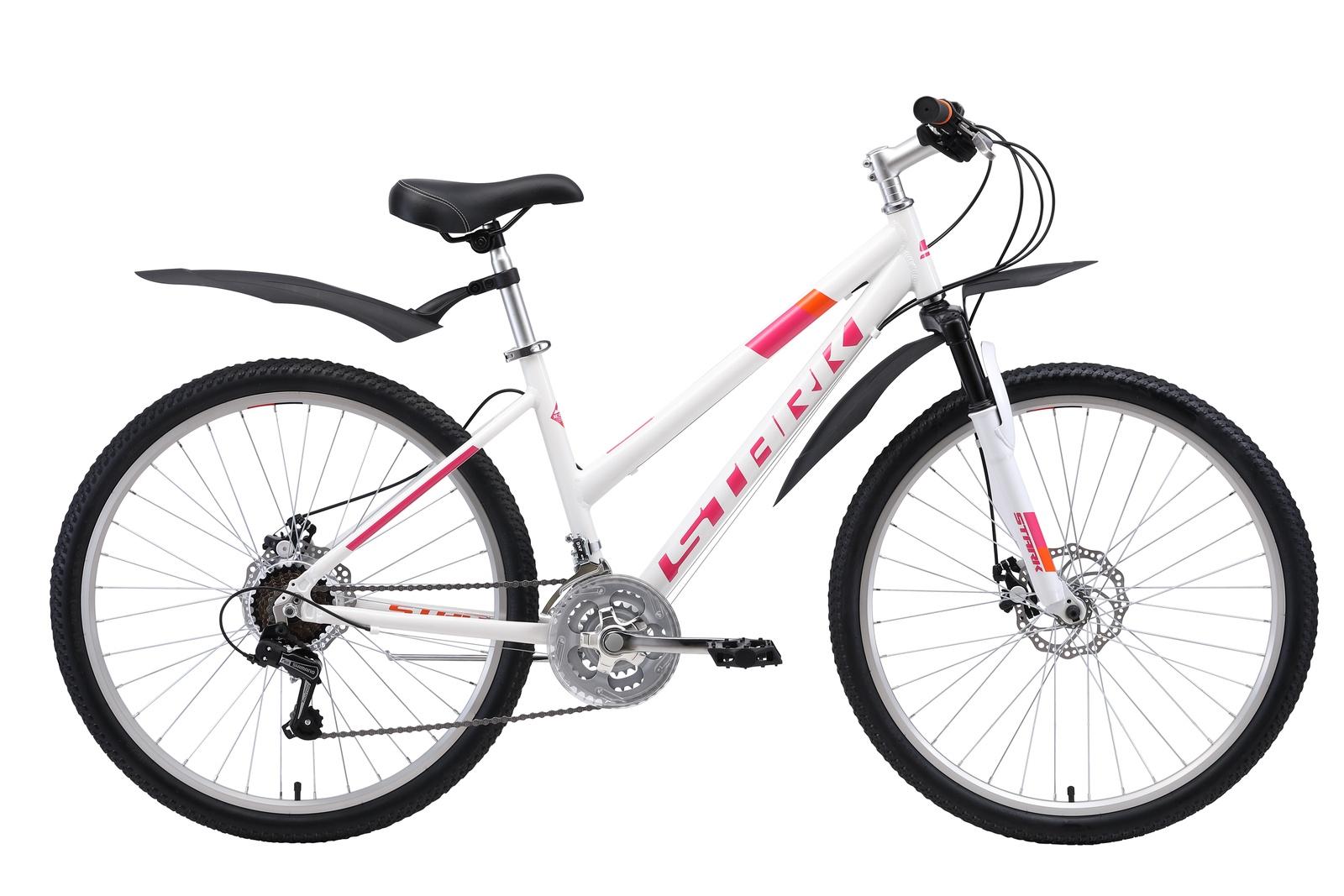 """Велосипед  Luna 26.1 D 18"""" 2019, белый, розовый, оранжевый"""