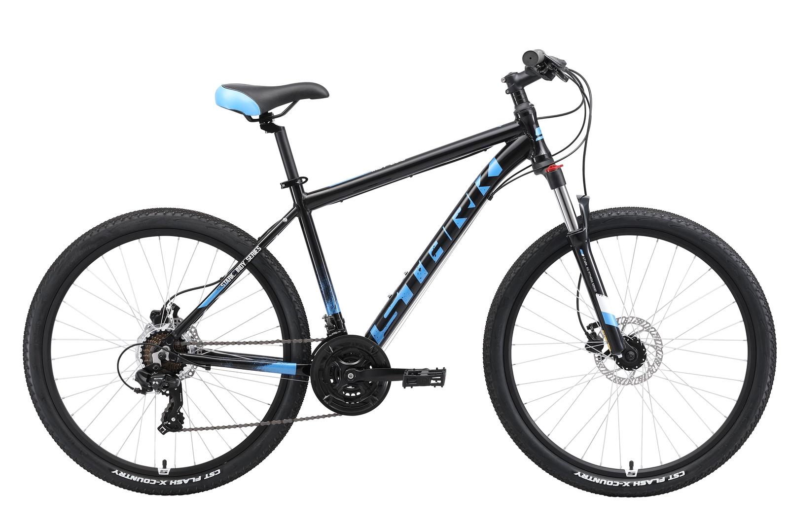 Велосипед Indy 26.2 HD 18 2019, черный, синий, голубой