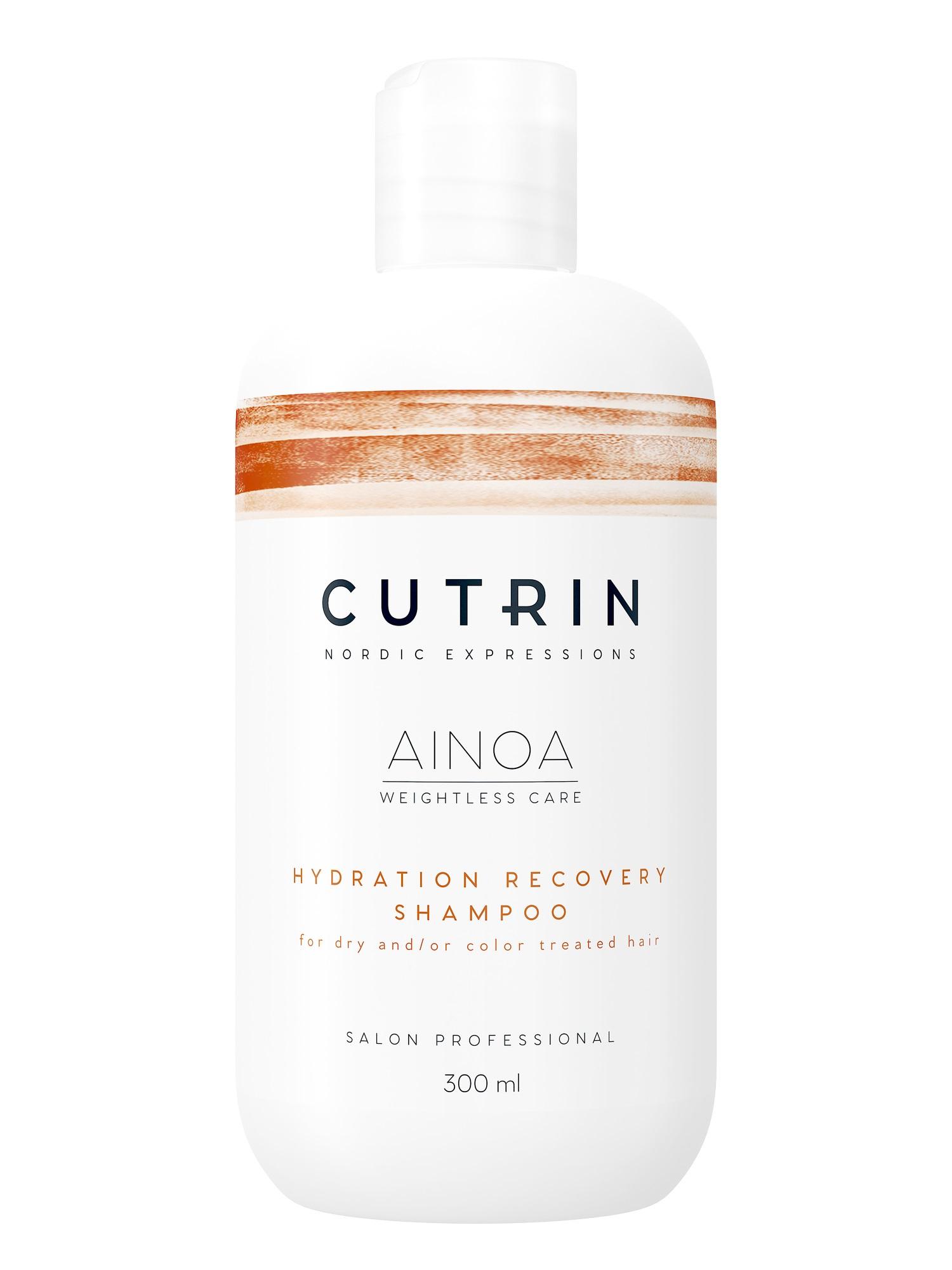 Шампунь для волос CUTRIN AINOA для увлажнения hydration recovery 300 мл cutrin шампунь для волос и тела 300 мл