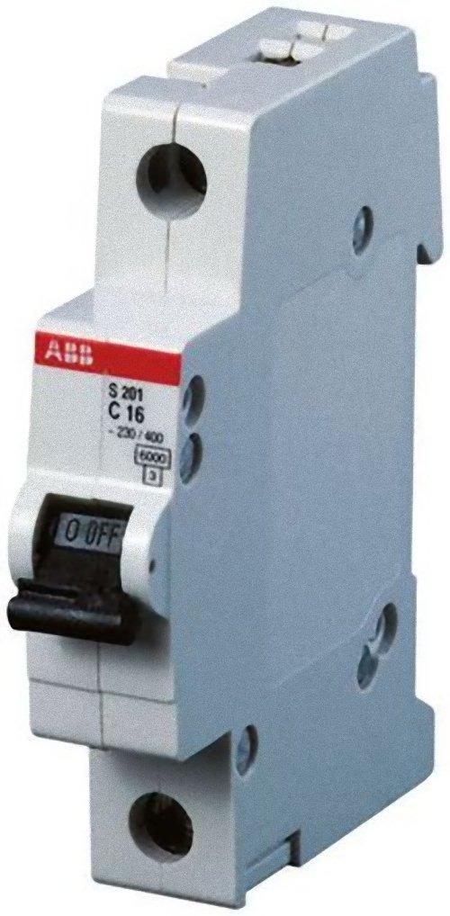 Выключатель автоматический ABB, модульный, 1п C 1.6А 6кА S201. 2CDS251001R0974 телефонная розетка abb bjb basic 55 шато 1 разъем цвет черный