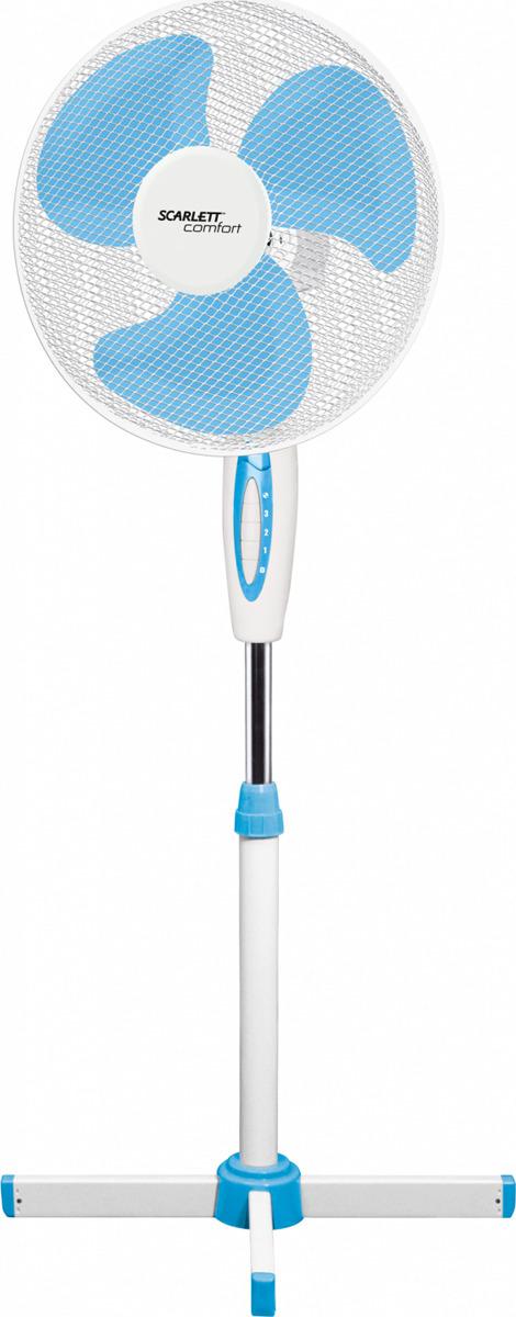лучшая цена Напольный вентилятор Scarlett Comfort SC-SF111B04, белый