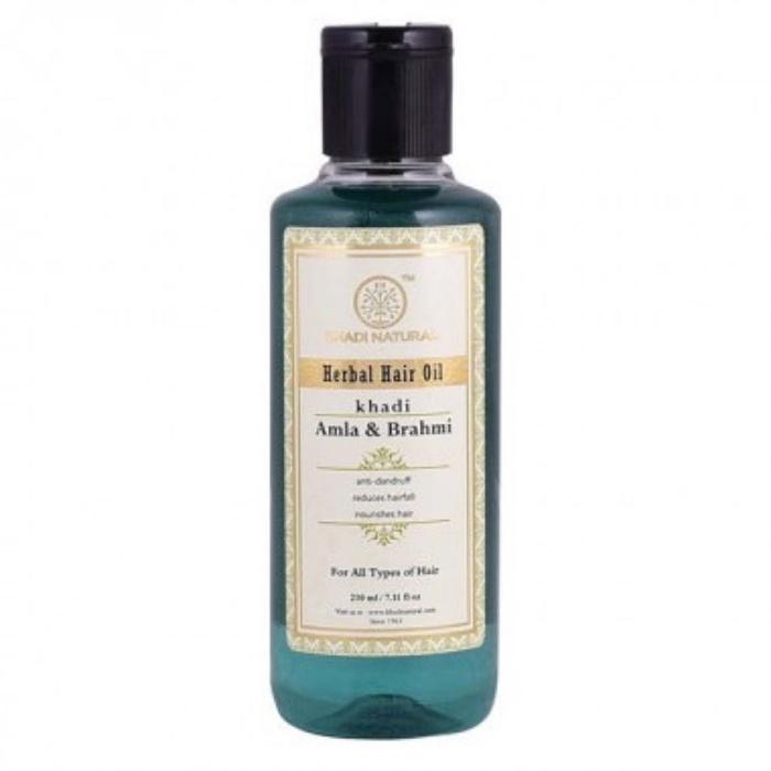 Масло для волос Khadi Natural для укрепления и роста Амла и Брахми масло для волос хна розмарин амла indian khadi 200 мл