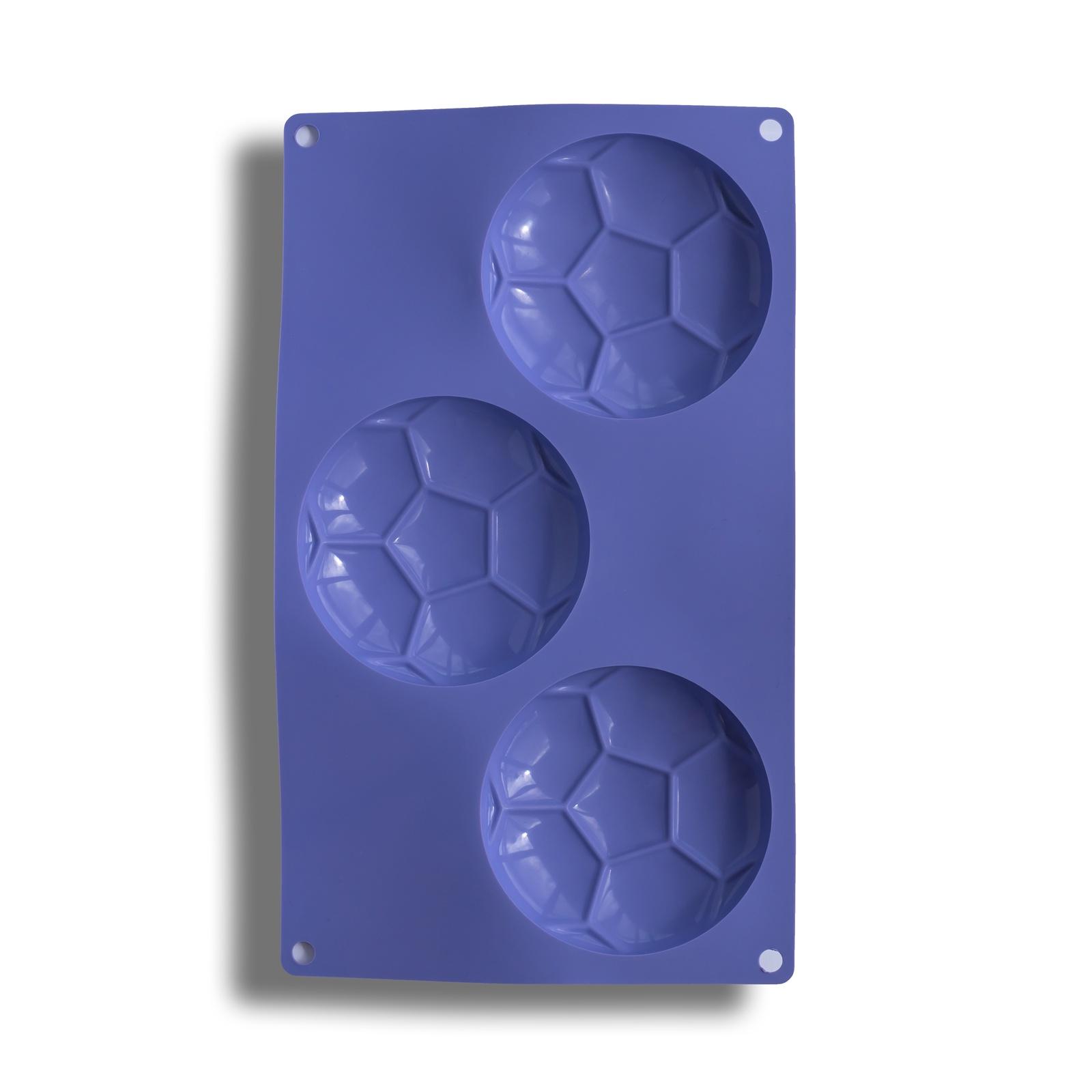 Форма для выпечки Силиконовая форма ФУТБОЛЬНЫЙ МЯЧ для кексов и десертов, фиолетовый