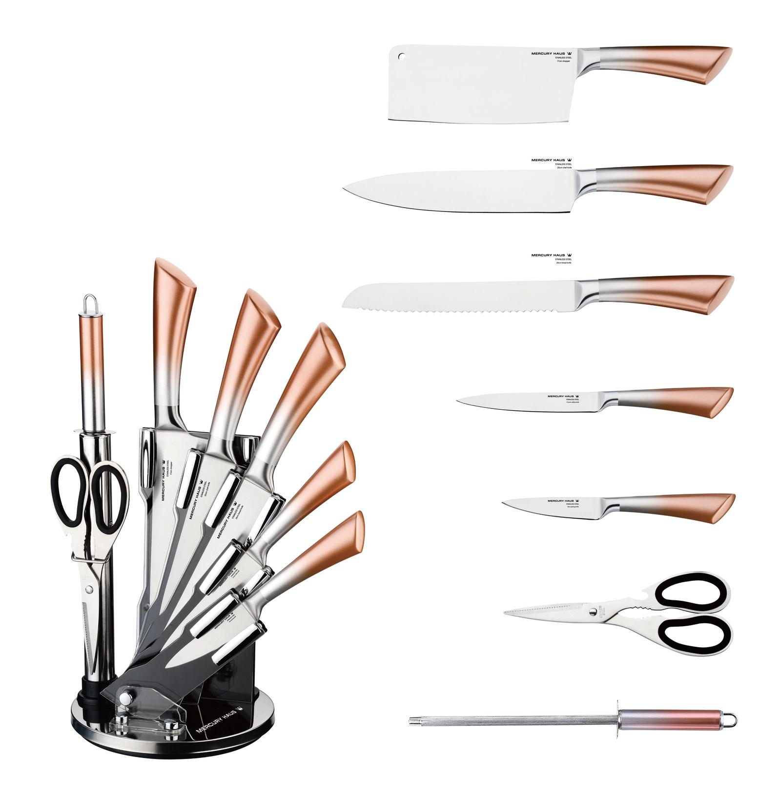 Набор кухонных ножей Mercury Haus MC - 6152, светло-коричневый набор лезвий для ножей sturm 1076 s2 18