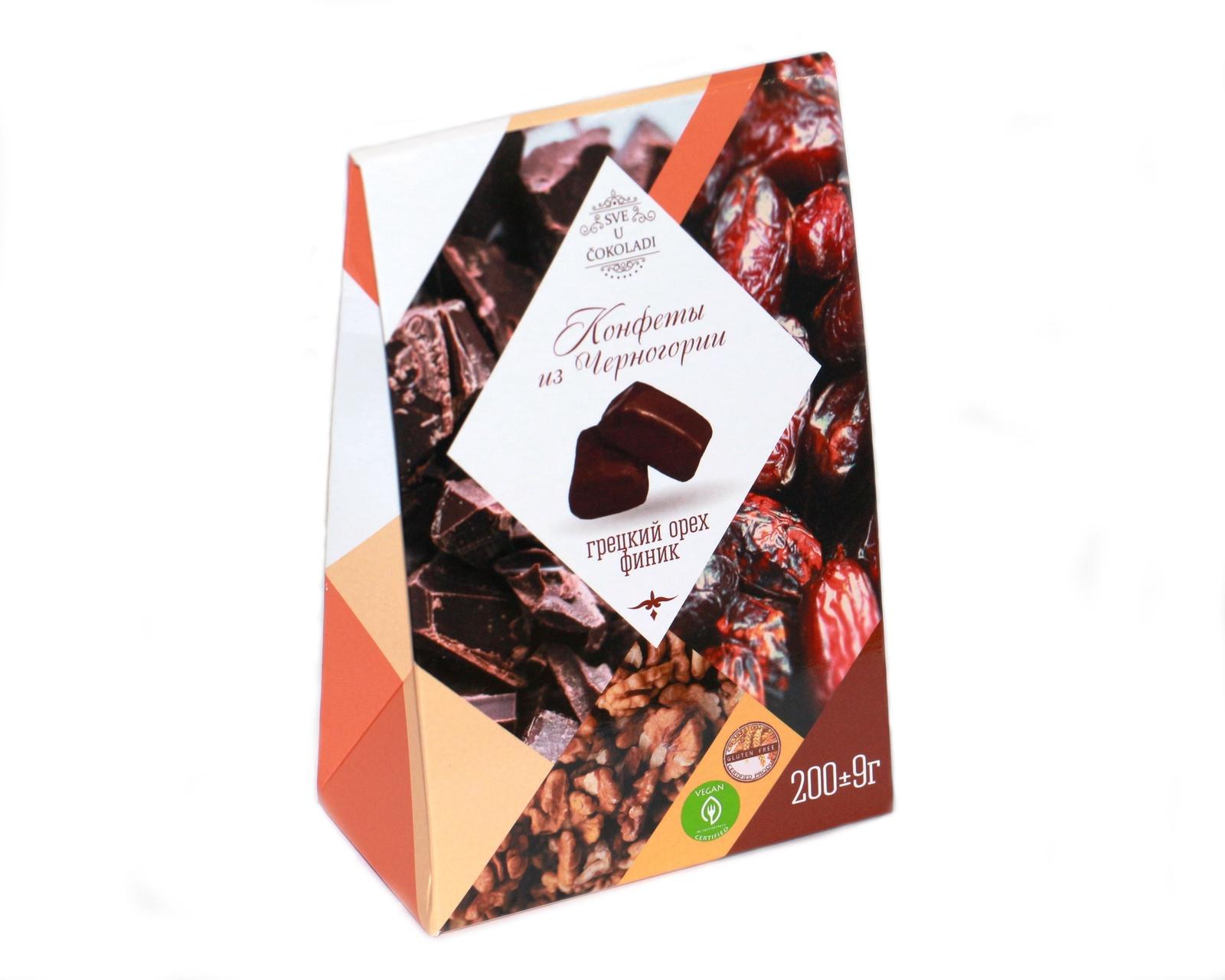 Финик в шоколаде с грецким орехом умные сладости конфеты курага с грецким орехом в шоколадной глазури 210 г