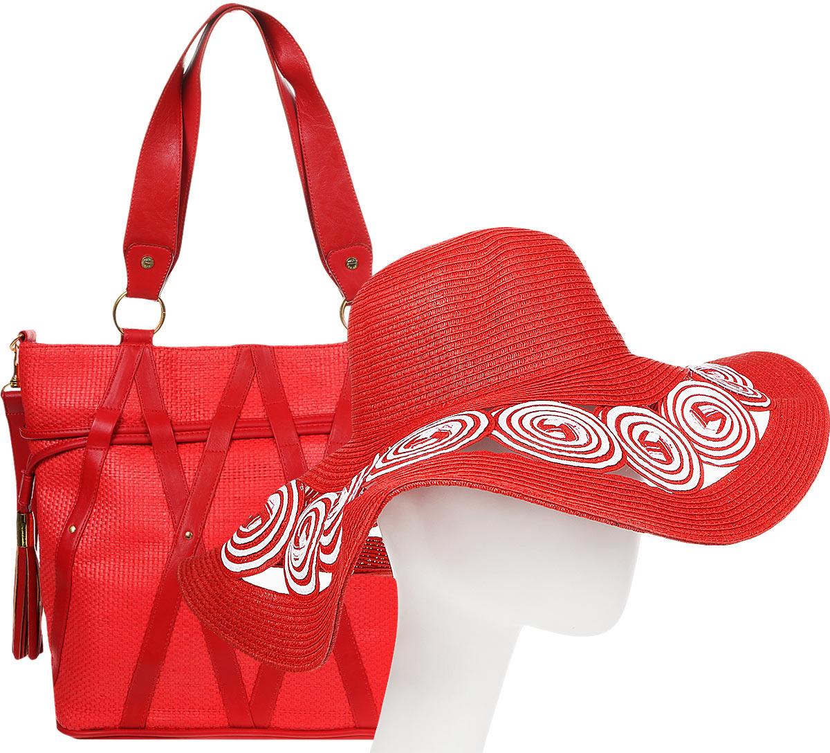 Пляжный комплект с сумкой Esmee, CBH432-462, красный