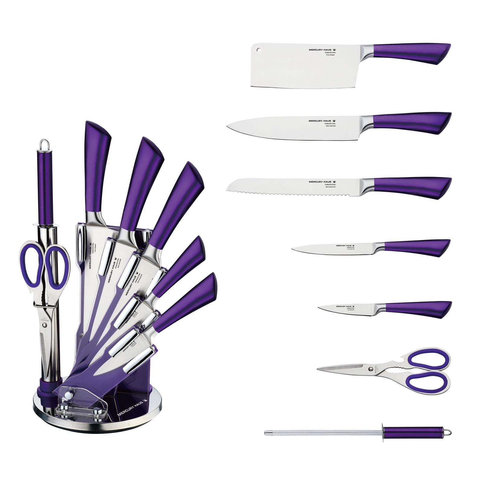 Фото - Набор кухонных ножей Mercury Haus MC - 6154, фиолетовый набор ножей mercury haus mc 6154