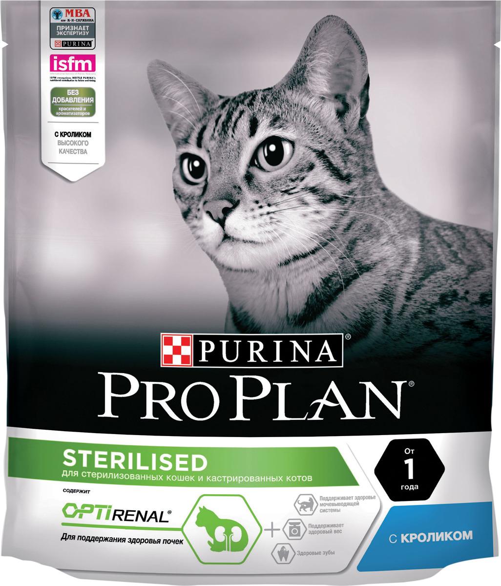 """Корм сухой Pro Plan """"Sterilised"""" для стерилизованных кошек и кастрированных котов, с кроликом, 400 г"""