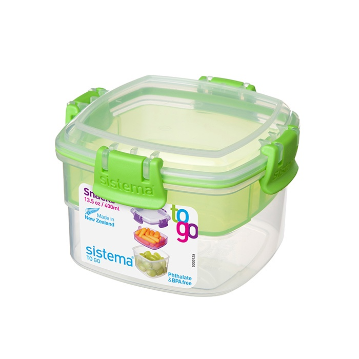 Контейнер пищевой Sistema 21320_Зеленый, Пищевой пластик