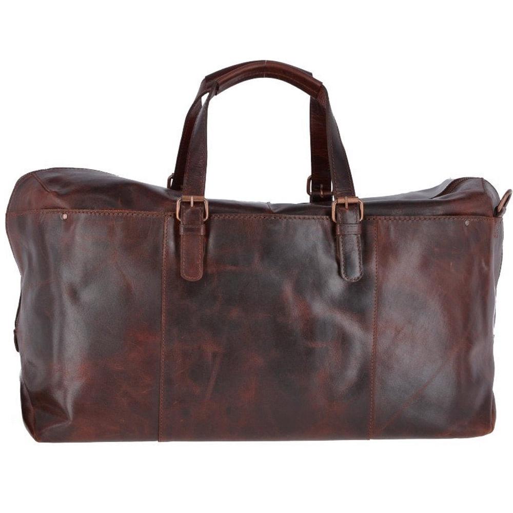 Сумка дорожная Ashwood Leather Oliver, коричнево-красный