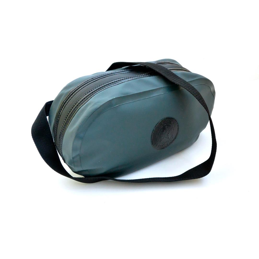Гермосумка GERMOSTAR поясная с карманом 3 л, серый