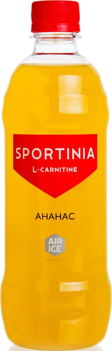 Карнитин Sportinia Ананас, 500 мл энергетический напиток bbb guarana shots вишня 20 ампул 1500 мг в ампуле