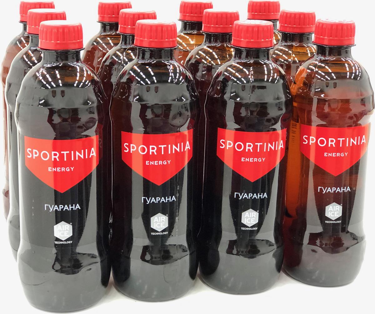Энергетический напиток Sportinia Guarana Energy, 12 шт по 500 мл энергетический напиток bbb guarana shots вишня 20 ампул 1500 мг в ампуле