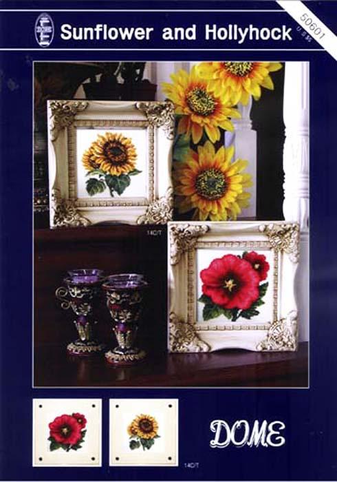 Набор для вышивания DOME Sunflower and Hollyhock цена и фото