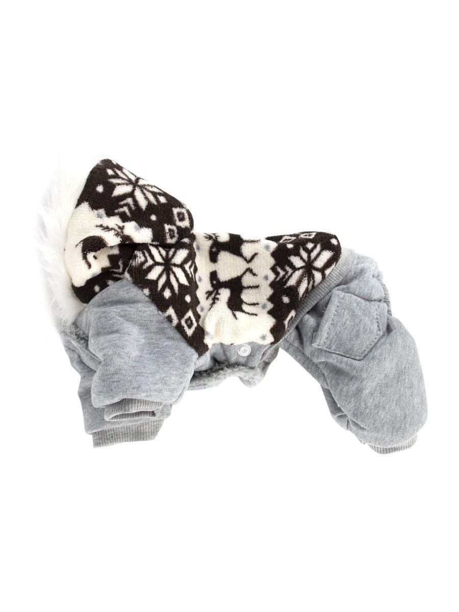 """Комбинезон для животных """"Северные олени"""" серый P0018-26-S Удачная покупка"""