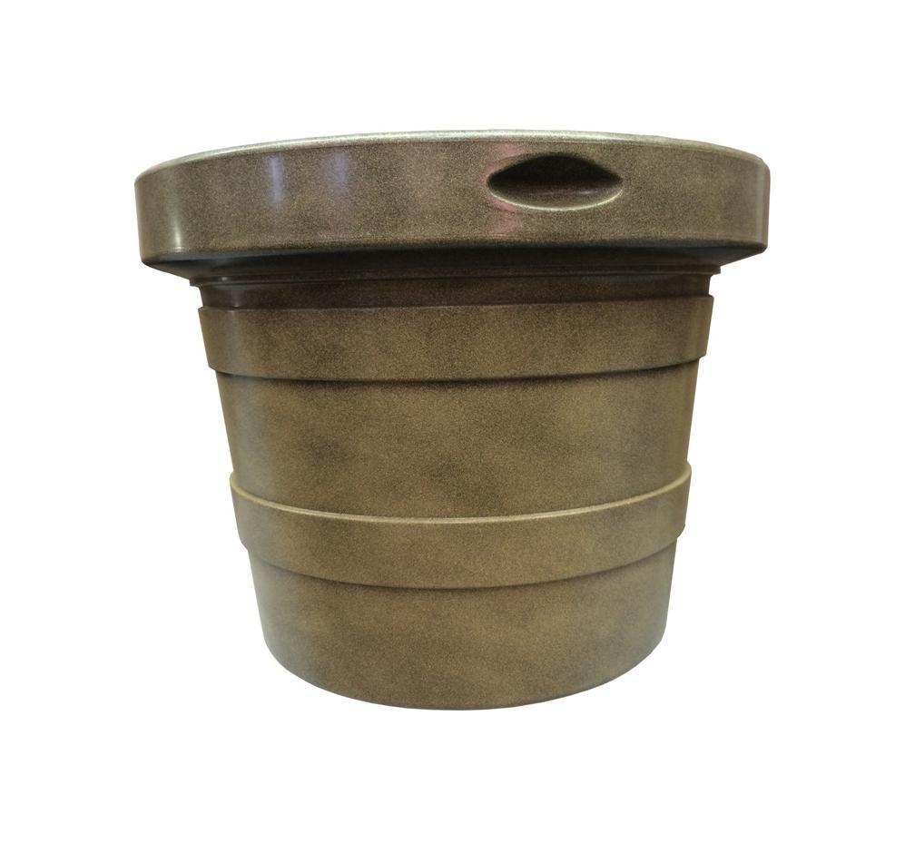 Горшок кашпо для цветов La Tourelle диаметр 55 см 50 литров, поддон, дренаж. Светлый терракот Ар. Е90-11, ТЕК.А.ТЕК кашпо для цветов dominican garden лемон цвет светло серый диаметр 50 8 см