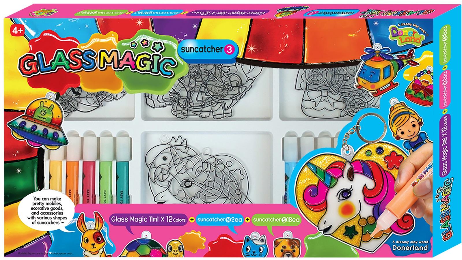 Набор для создания витража Glass Magic Игровой набор для рисования витражей №3 блестящий набор кошечки uni