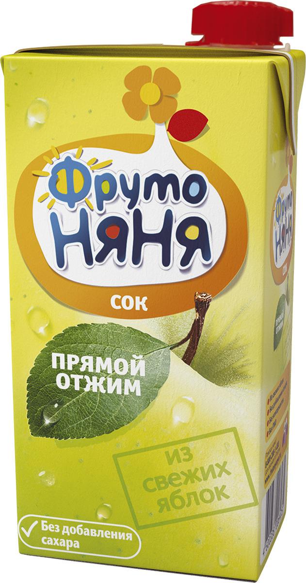 Фото - ФрутоНяня сок из яблок прямого отжима, 0,5 л фрутоняня сок из яблок 0 5 л