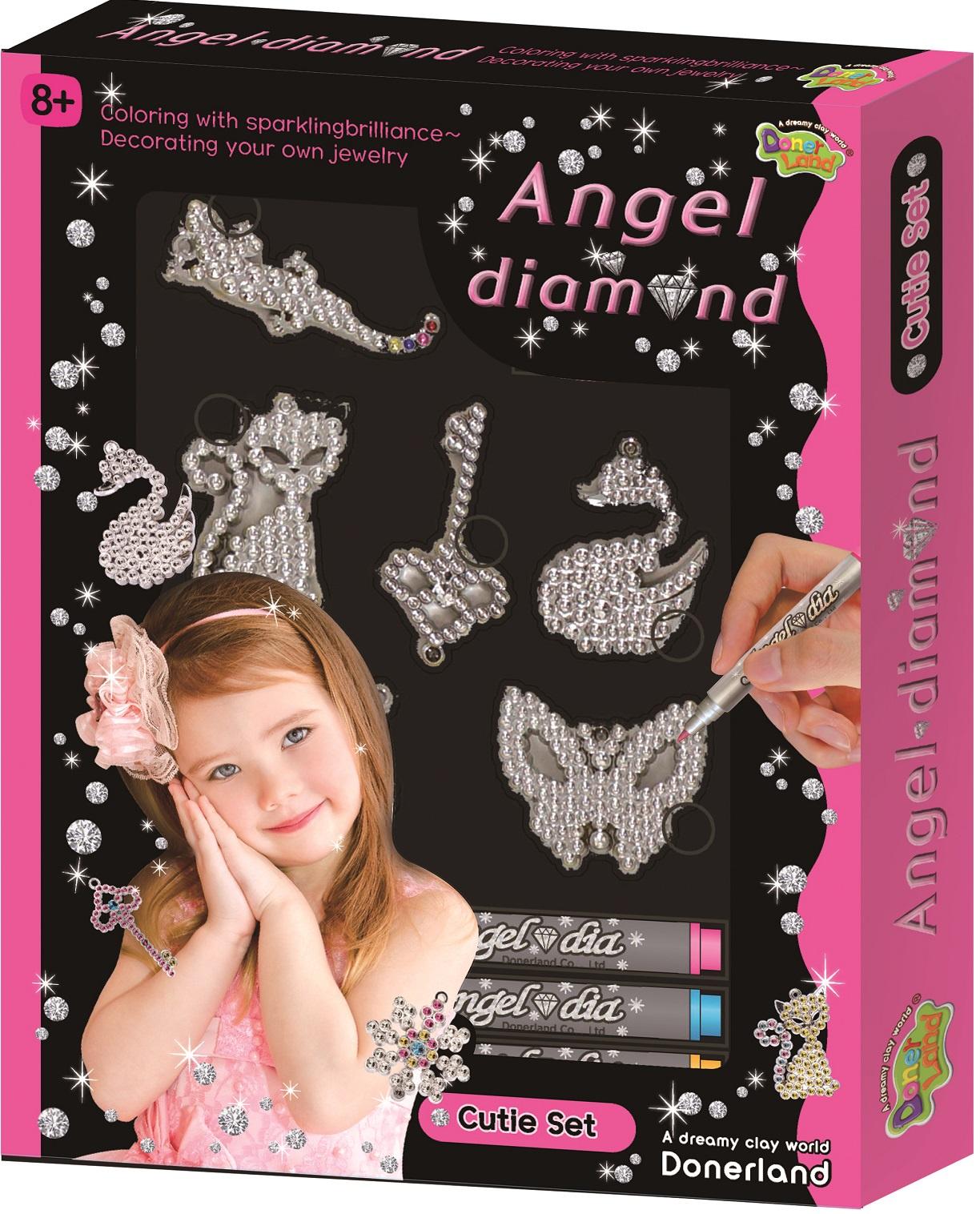 Набор для создания украшений Angel Dimond Игровой набор Angel Diamond - Cutie Set игровой набор карусель для создания украшений из бусинок lalaloopsy