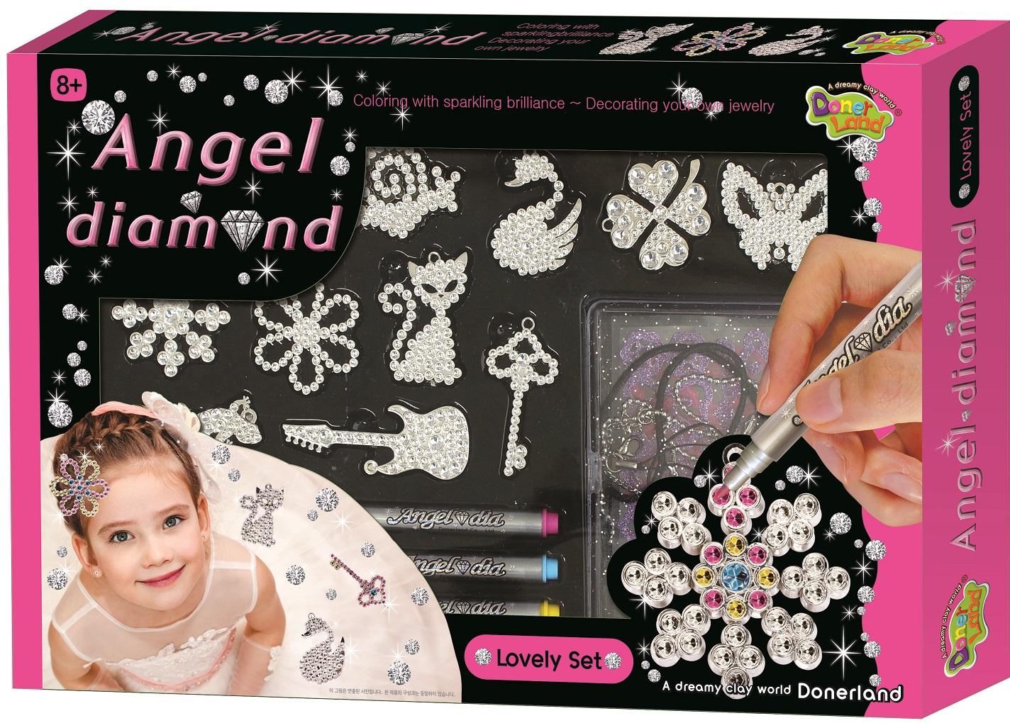 Набор для создания украшений Angel Dimond Игровой набор Angel Diamond - Lovely Set игровой набор карусель для создания украшений из бусинок lalaloopsy