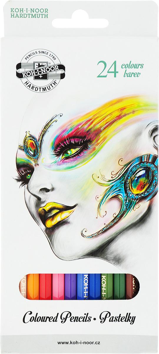 Набор карандашей Koh-i-Noor Фантазия, 3554/24 19 KS, 24 цвета набор цветных карандашей koh i noor сафари 36 шт 17 5 см 3555 36 s ks 3555 36 s ks