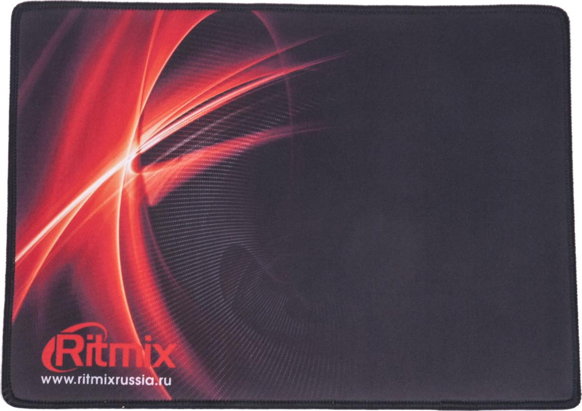 Коврик для мыши Ritmix MPD-050 Gaming, черный, красный коврик для мыши ritmix mpd 020 action