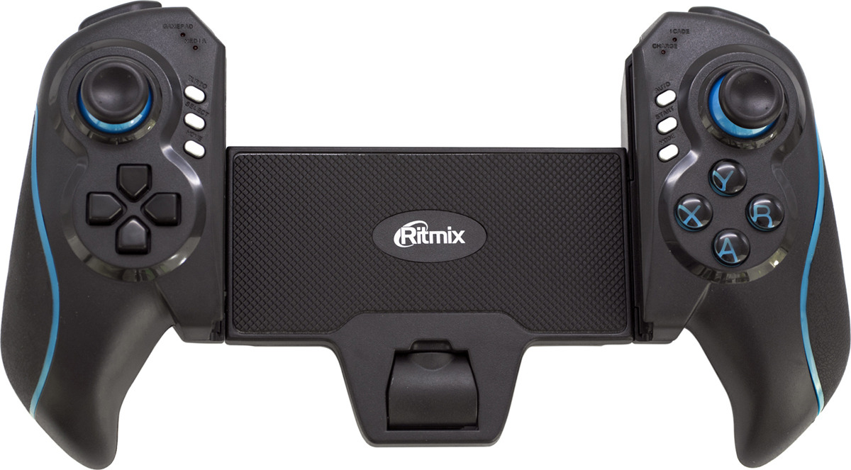 Геймпад Ritmix GP-051BTH, черный, синий геймпад ritmix gp 030bth black red