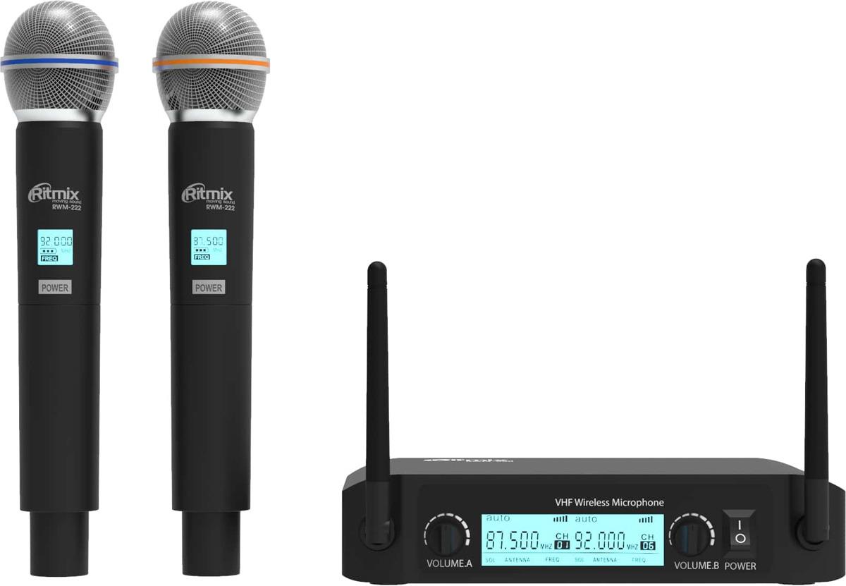 Микрофон Ritmix RWM-222, черный