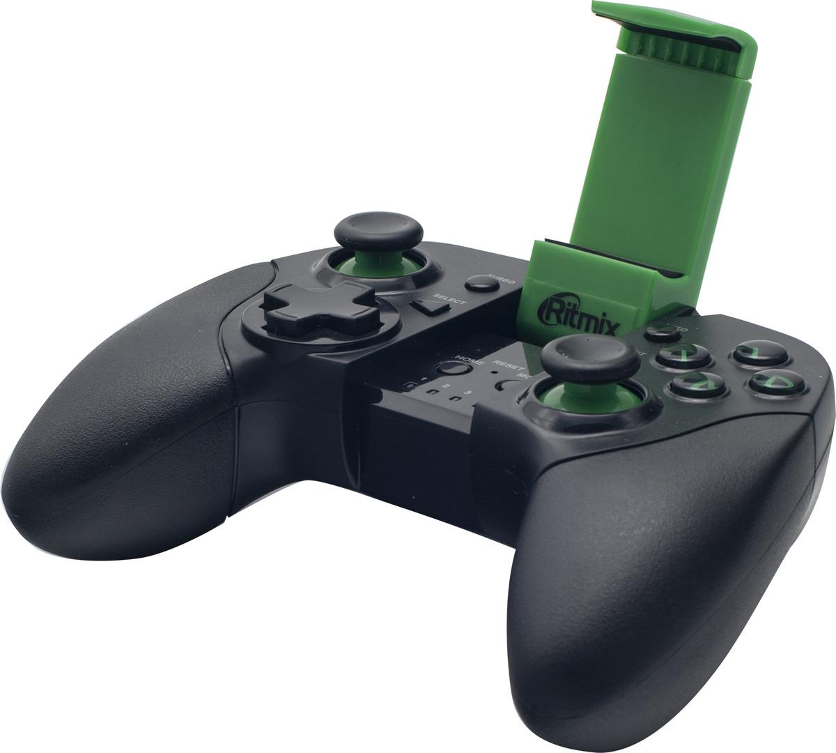 Геймпад Ritmix GP-035BTH, черный, зеленый геймпад ritmix gp 030bth black red