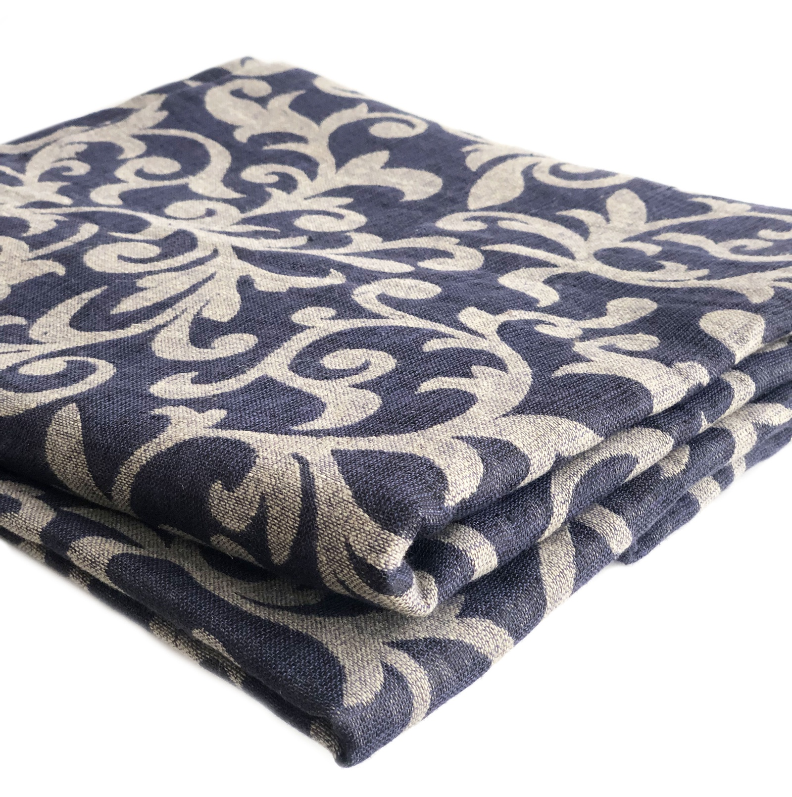 Скатерть Impression Style 0106, темно-синий, бежевый