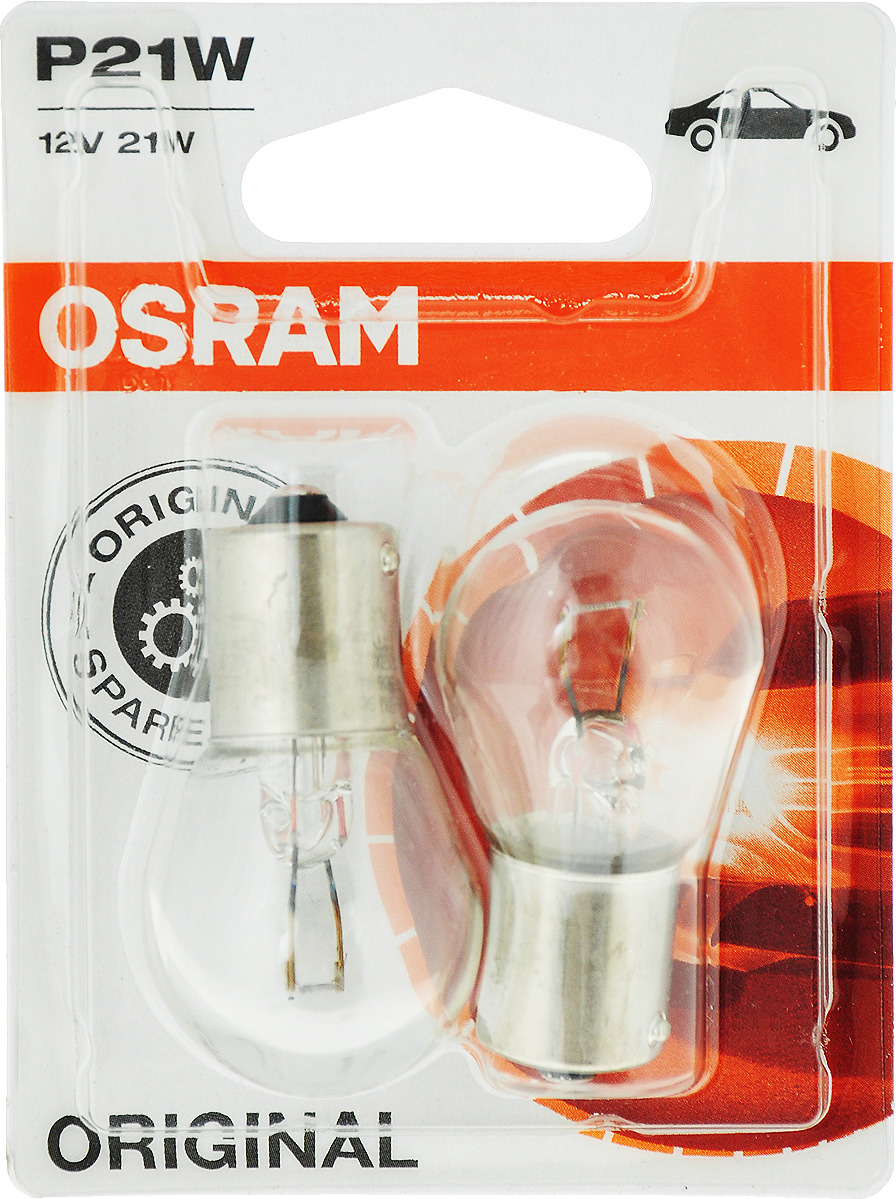 Лампа автомобильная Osram 21w Вт, Накаливания лампа автомобильная osram original line 51 вт галогенная